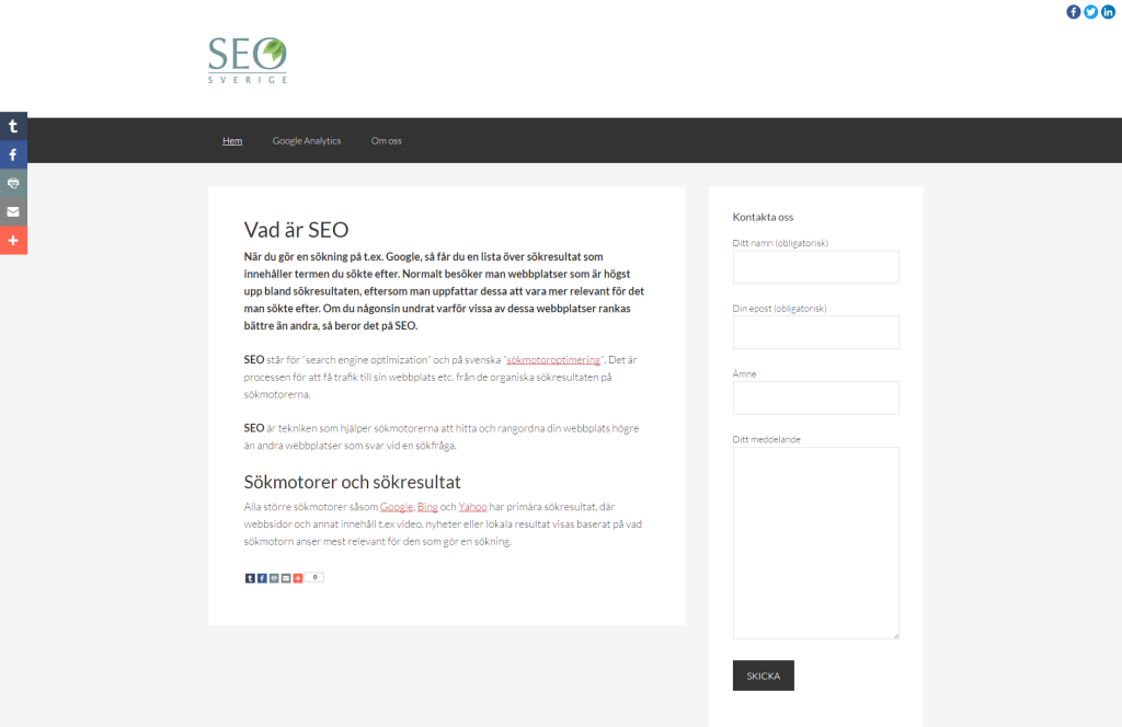 seosverige.nu webbplats